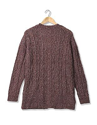 Aeropostale Knitted Open Front Shrug