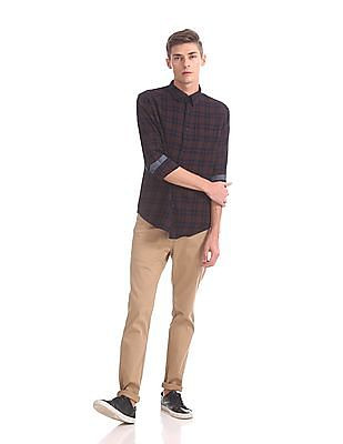 Roots by Ruggers Spread Collar Check Shirt