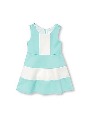 The Children's Place Toddler Girl Sleeveless Colour Block Ponte Dress
