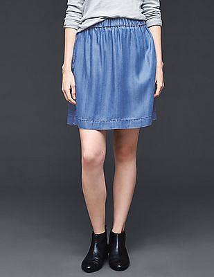 GAP 1969 Tencel® Denim Indigo Circle Skirt