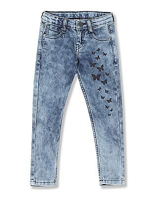 Cherokee Girls Slim Fit Acid Wash Jeans