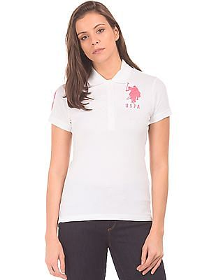 U.S. Polo Assn. Women Regular Fit Cotton Lycra Polo Shirt