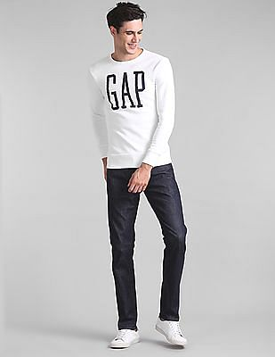 GAP Logo Graphic Crewneck Pullover Sweatshirt