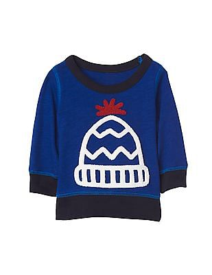 GAP Baby Beanie Graphic Pullover Sweatshirt