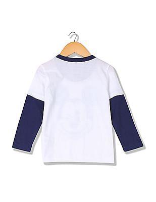 Colt Boys Crew Neck Colour Blocked T-Shirt
