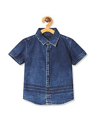 Cherokee Boys Washed Short Sleeve Shirt