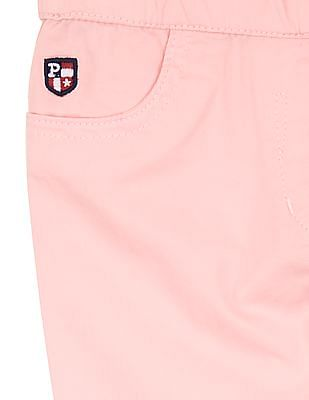 U.S. Polo Assn. Kids Girls Mid Rise Slim Fit Jeggings