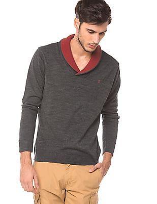 Izod Slim Fit Shawl Collar Sweater