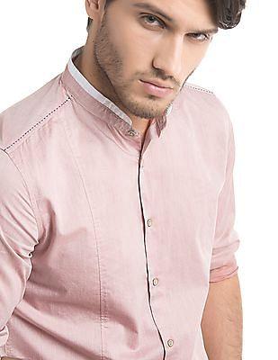 True Blue Slim Fit French Placket Shirt