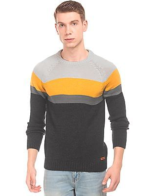 Aeropostale Long Sleeve Colour-Block Sweater