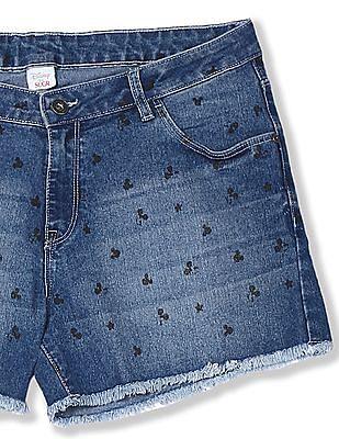 SUGR Blue Minnie Mouse Denim Shorts