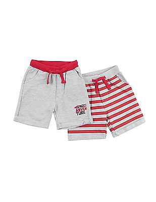 Donuts Boys Knit Shorts - Pack Of 2
