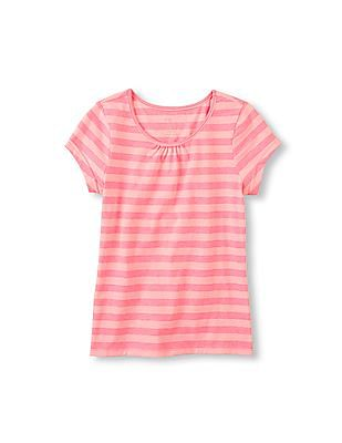 The Children's Place Girls Short Sleeve Striped Layer Tee