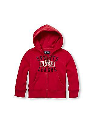The Children's Place Toddler Boy Active Long Sleeve Graphic Zip-Up Hoodie