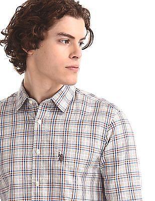 U.S. Polo Assn. Grey Patch Pocket Check Shirt