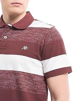 Aeropostale Striped Slim Fit Polo Shirt