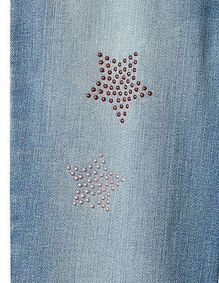 GAP Girls Blue 1969 Starry High Stretch Jeggings