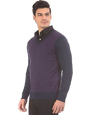 Arrow V-Neck Merino Wool Sweater