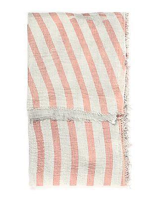SUGR Fringed Striped Stole