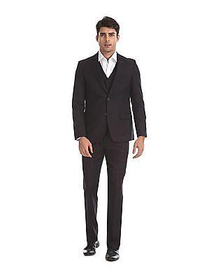 Arrow Purple Body Tailored Regular Fit Three Piece Suit