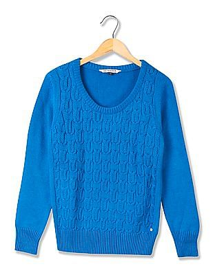 U.S. Polo Assn. Women Chunky Cable Knit Sweater