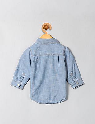 GAP Baby Jersey-Lining Chambray Shirt