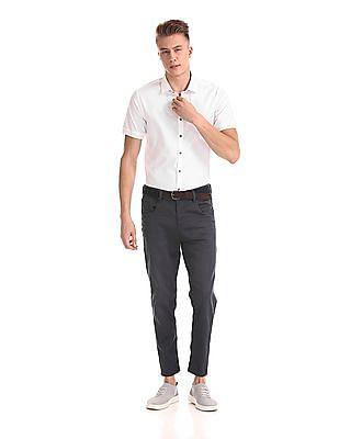 Flying Machine Regular Fit Short Sleeve Shirt
