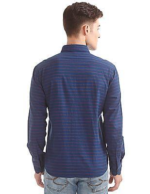 Izod Slim Fit Horizontal Stripe Shirt