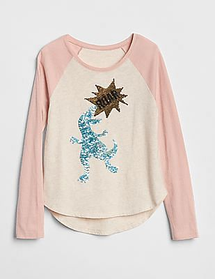 GAP Girls Flippy Sequin Graphic T-Shirt
