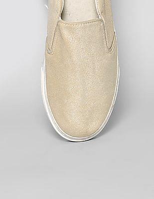 GAP Women Gold Suede Slip On Sneakers