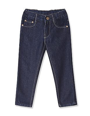 Day 2 Day Boys Elasticized Waist Rinsed Jeans
