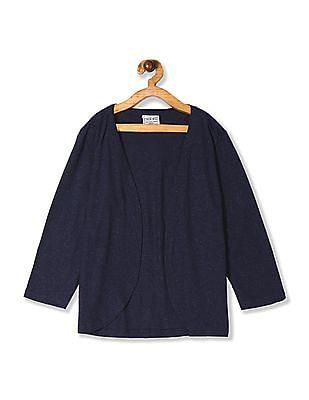 Cherokee Girls Blue Open Front Knit Shrug
