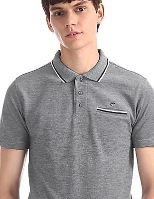 Ruggers Blue Welt Pocket Pique Polo Shirt