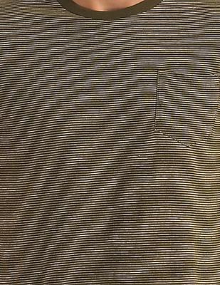 Aeropostale Patch Pocket Striped T-Shirt