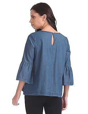 Cherokee Bell Sleeve Denim Top