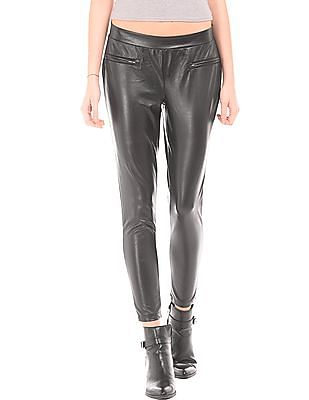 EdHardy Women Mock Pocket Pleather Pants