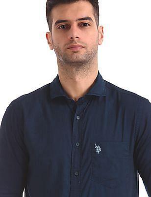 U.S. Polo Assn. Tailored Regular Fit Forward Point Shirt