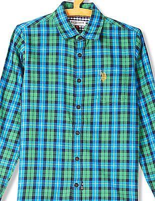 U.S. Polo Assn. Kids Boys Standard Fit Check Shirt