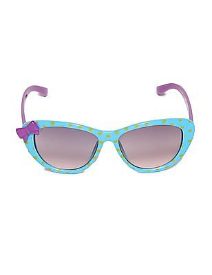 Unlimited Blue Girls Cateye Frame Colour Block Sunglasses