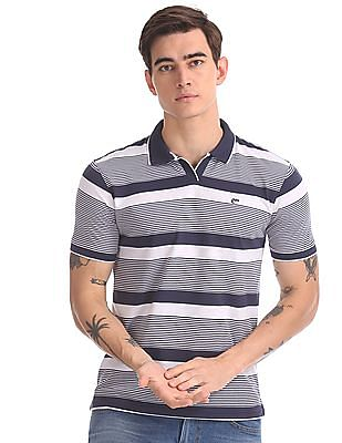 Ruggers Navy And White Tipped Striped Polo Shirt