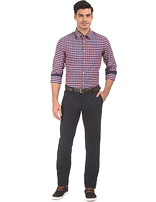 Arrow Sports Slim Fit Trousers With Belt