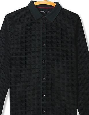 Arrow Newyork Slim Fit Flock Print Shirt