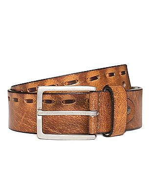 Flying Machine Textured Leather Belt