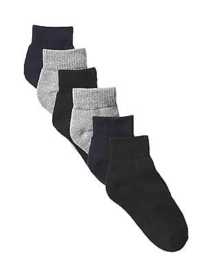GAP Boys Quarter Socks - Pack of 6