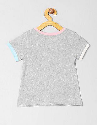 GAP Toddler Girl Colorblock Logo T-Shirt