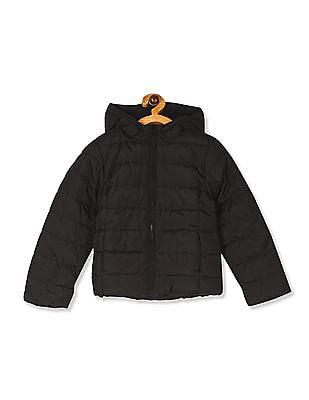 The Children's Place Black Girls Puffer Jacket