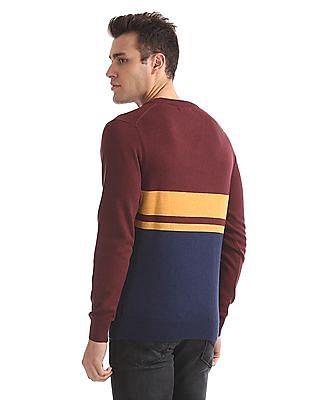 U.S. Polo Assn. V-Neck Striped Sweater
