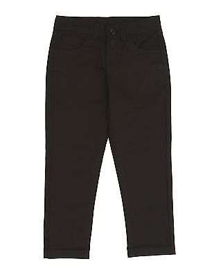 Cherokee Boys Solid Flat Front Trousers