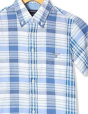 Gant Boys Button Down Collar Check Shirt
