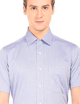 Arrow Short Sleeve Jacquard Shirt